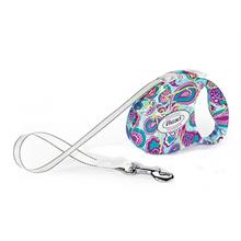 Flexi Fashion Ladies Small 3M-12 Kg Otomatik Gezdirme Tasması Paisley